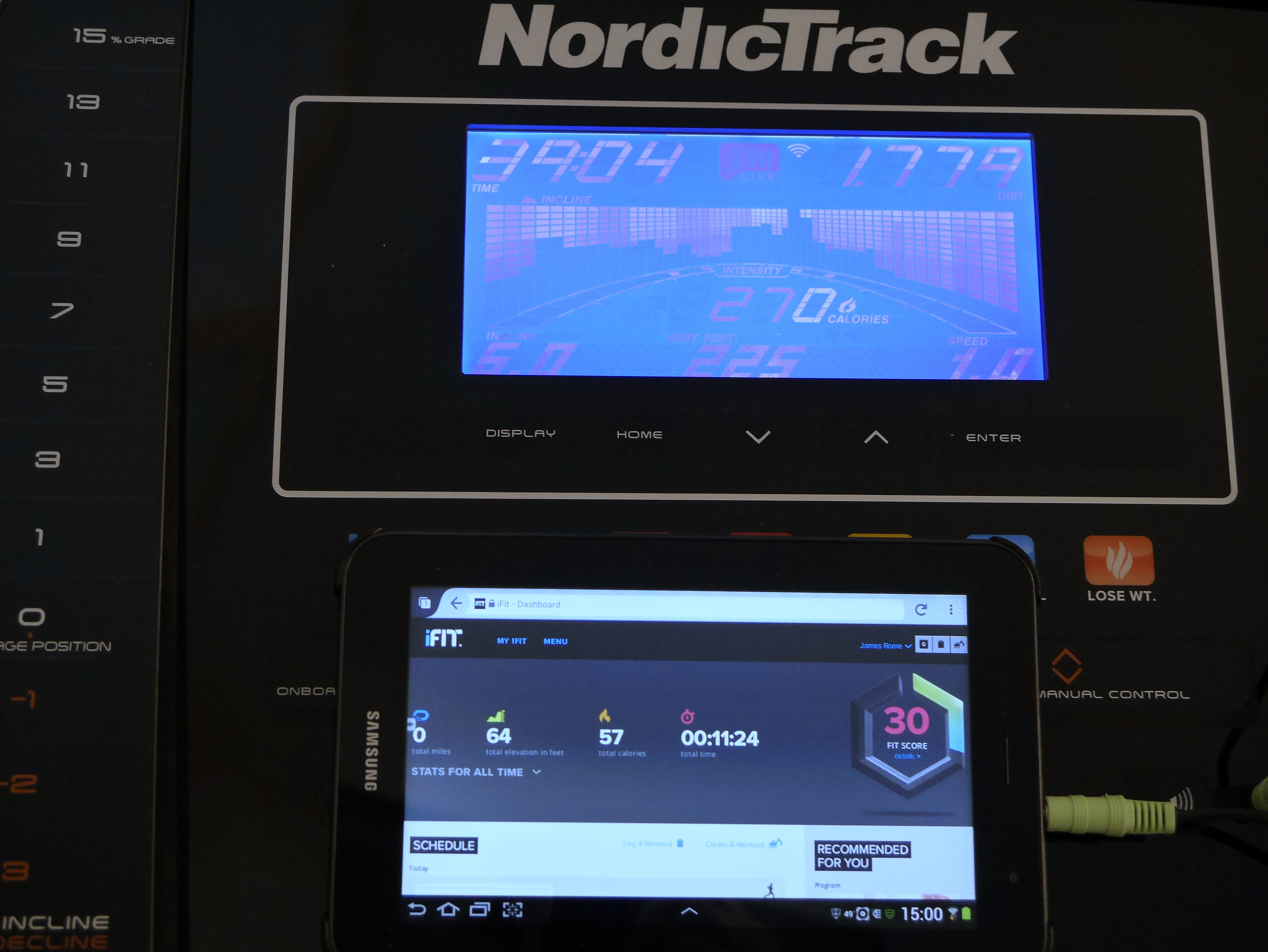 Nordictrack And Ifitgood Idea Awful Execution Jim Romes Wiring Diagram Notice That I Just Have Completed A 39 Minute Workout But My Dashboard Total Time Is 11 Minutes Burned 225 Calories Not The 57 Are Shown